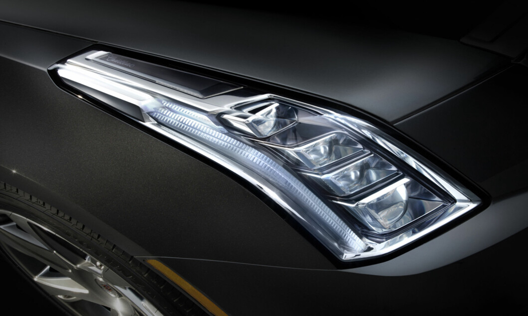 The 2014 Cadillac ELR features Cadillac's signature LED headlamp and taillamp elements and a daytime running lights motif at the edges of the headlamp housings. The ELR is the industry's only electric vehicle offered by a full-line luxury automaker. Production starts in late 2013.