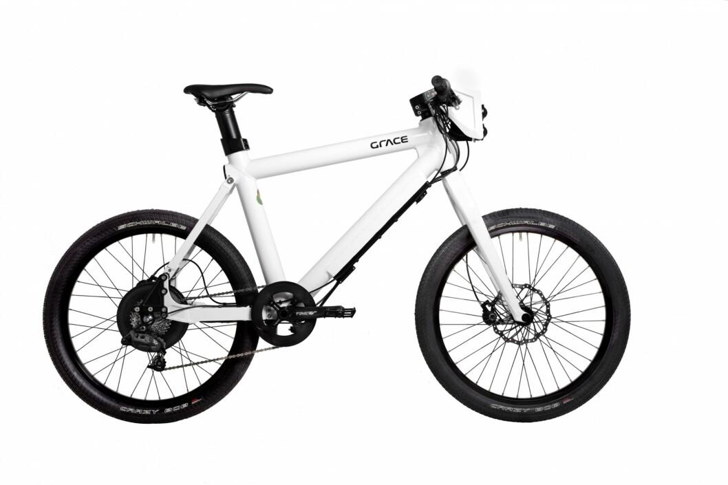 <strong><strong>MOPED:</strong> </strong>Det ser ut som en vanlig el-sykkel, men denne er altså ikke lov til å bruke på sykkelstier.  Foto: Grace/Evo Konsept