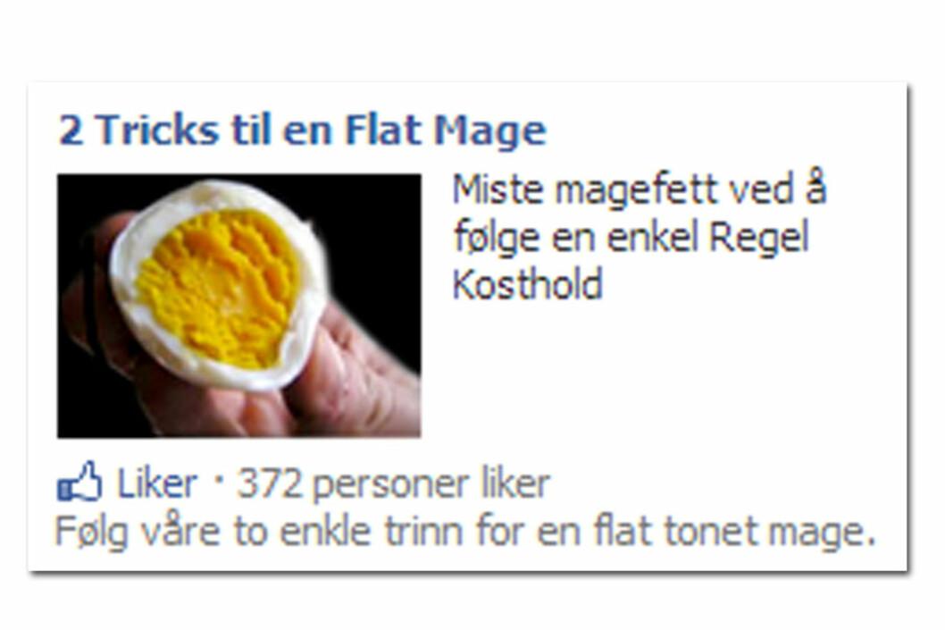 Flat mage av å... spise egg?