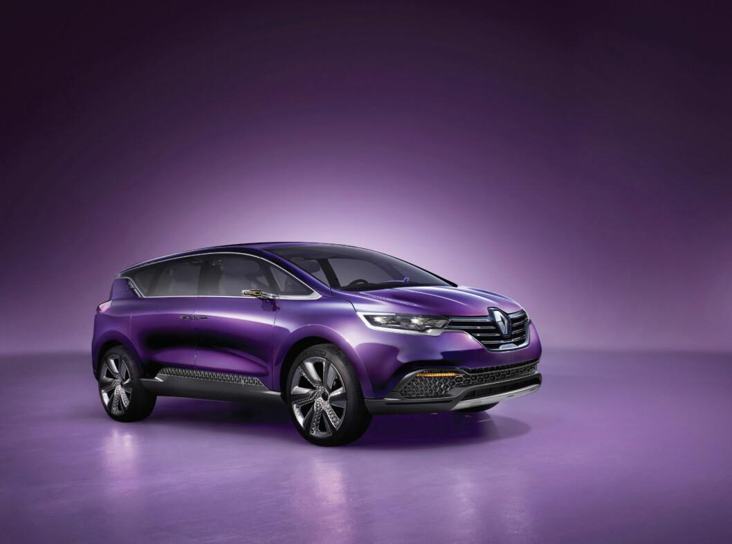 <strong>MIKS AV SUV OG FLERBRUKSBIL:</strong> Renault Initiale Paris gir noen hint om hvordan neste Espace kommer til å bli. Foto: Renault