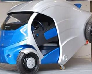 Her er den sammenleggbare bilen