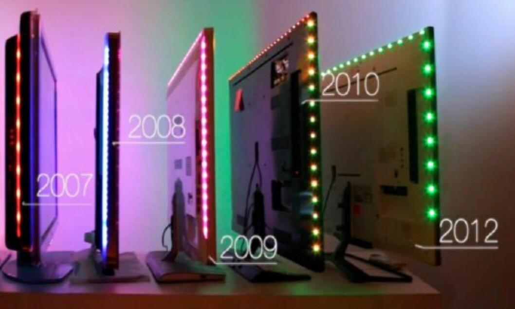 LED-diodene har blitt bedre gjennom årenes løp. Foto: Philips