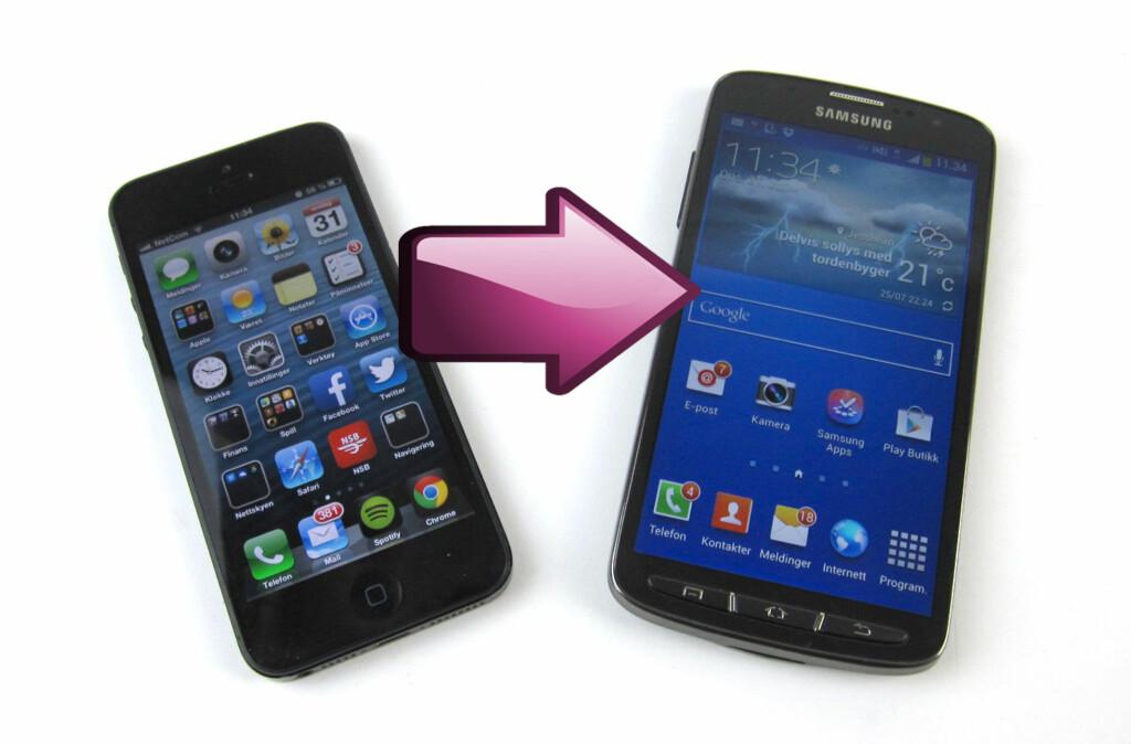 Hvordan er det for en iPhone-bruker å konvertere til en av de beste Android-mobilene? Foto: Bjørn Eirik Loftås