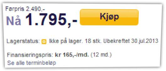 <strong>SURT:</strong> Her har en nettbutikk tilbud på hodetelefoner som de ikke har på lager. Å gjøre dette bevisst er ikke lov i Norge.