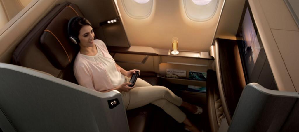 En egen kabin. Vel og merke om du flyr førsteklasse. Foto: Singapore Airlines