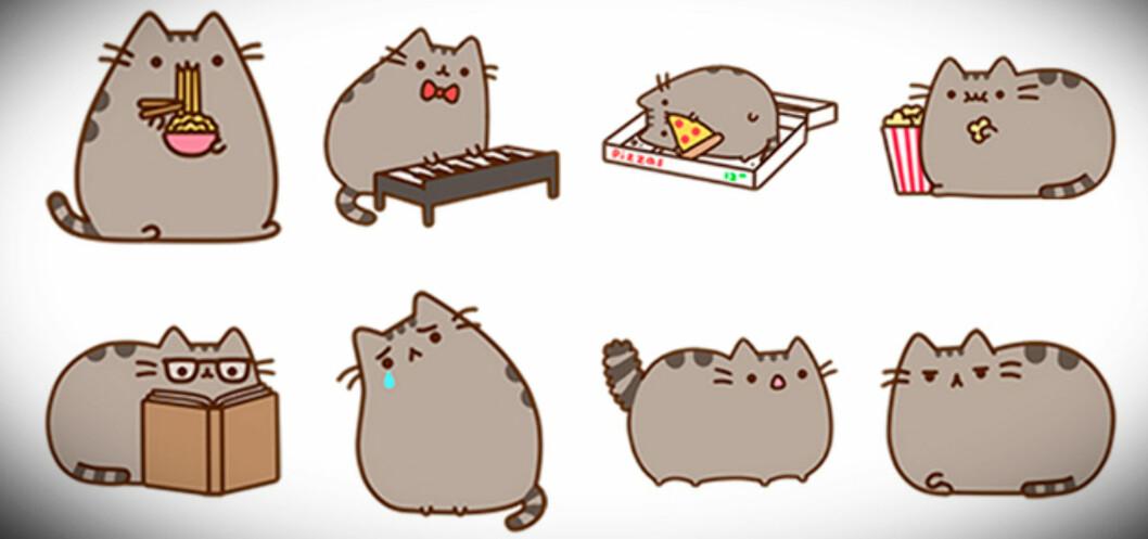 <strong>Fra Facebooks egen beskrivelse:</strong> Møt Pusheen, «den grå lubne katten som får hjerter til å smelte».