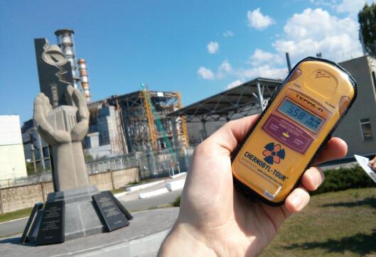 <strong>STRÅLENDE:</strong> Tsjernobyl-kraftverket stråler fortsatt. Men det skal være helt trygt for turister.  Foto: Ole Petter Baugerød Stokke