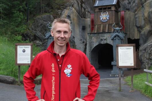 Bjørn Håvard Solli, administrerende direktør på  Tusenfryd, er spent på mottakelsen av den nye millioninvesteringen. Foto: Kristin Sørdal