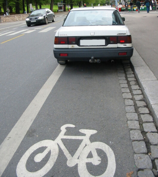 <strong><strong>ULOVLIG OG IRRITERENDE:</strong> </strong>Slutter bilistene med dette, demper det konfliktnivået.    Foto: Trafikketaten