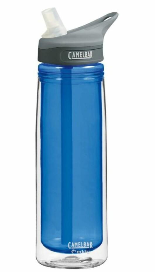 <strong><B>ISOLERT:</strong></B> Camelbak Eddy skal visst nok holde vannet lenger kaldt enn vanlige flasker. Foto: Amazon.com