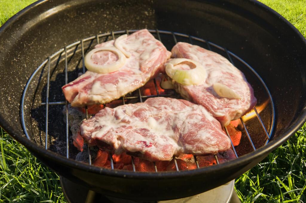 Til mindre kjøttstykker og grønnsaker egner grillkull seg godt. Spesielt om du liker den røkte smaken som følger med. Foto: Colourbox.com