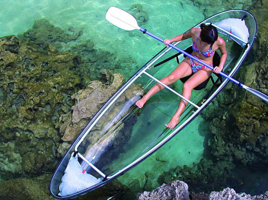 <strong><strong>ROLIGE FARVANN:</strong> </strong>Den er ikke beregnet for røff sjø.  Foto: Clear Blue Hawaii