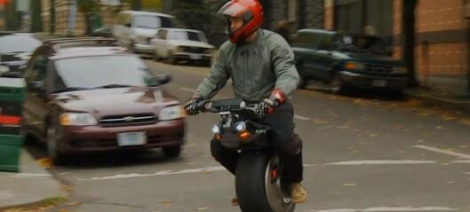 El-scooter på ett hjul