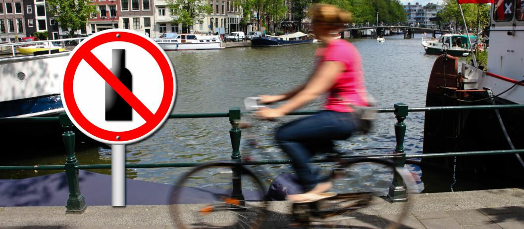 Det kan bli dyrt å sykle hjem fra puben, noen steder bør du rett og slett la sykkelen stå. Tsjekkia og Slovakia har nulltoleranse, mens du risikerer saftige bøter i Irland om du er uskikket til å sykle på grunn av alkoholinntak. Foto: Colourbox.com