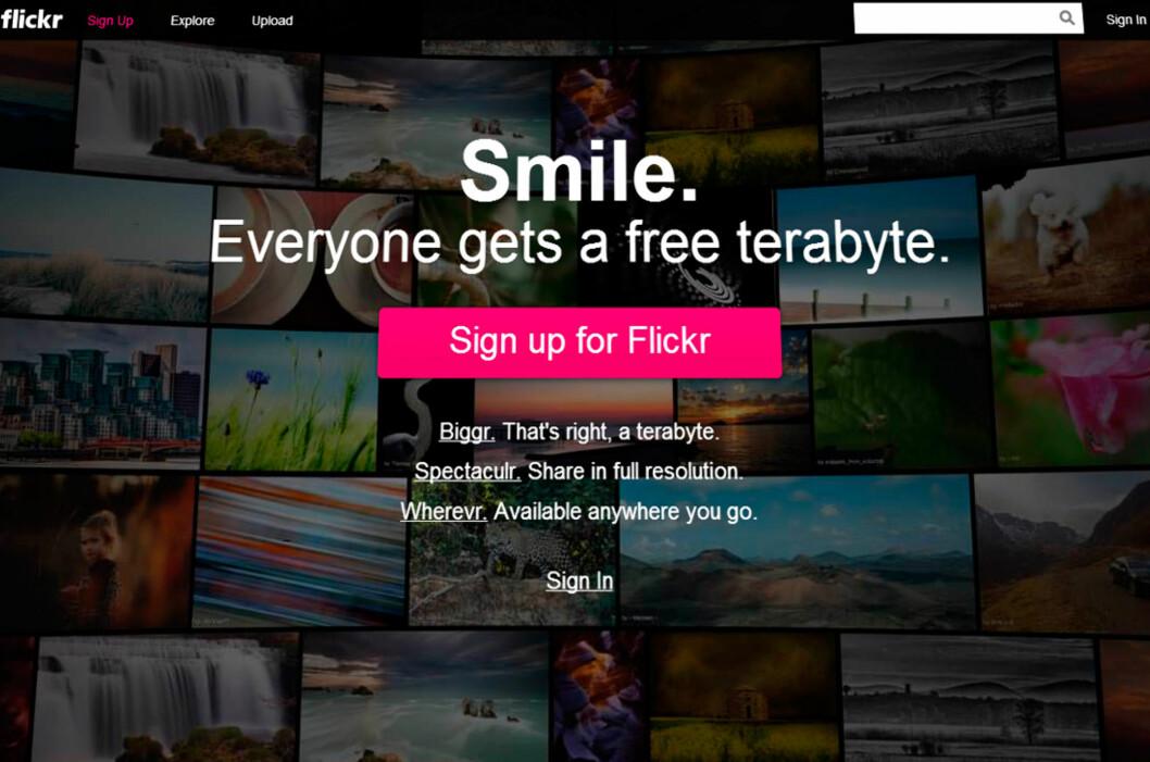 Trenger du et sted å lagre bildene dine på internett, ble Flickr plutselig en veldig interessant løsning. 1 TB lagringsplass gir nemlig rom til rundt 500.000 bilder. Foto: Kirsti Østvang