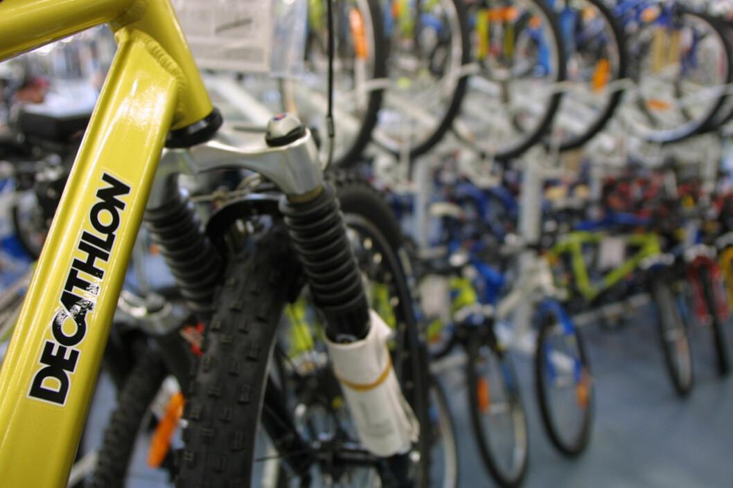Dempegaffel? Det er ikke alltid mest mulig utstyr er det beste. Tenk på hva du skal bruke sykkelen til, før du kjøper. Foto: colourbox.com