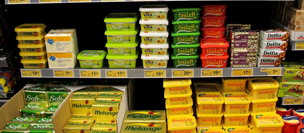 Margarin kom  opprinnelig på markedet som et substitutt for smør. I dag er utvalget av margarin stort og variert i butikkhyllene.  Foto: Natalie Ngo