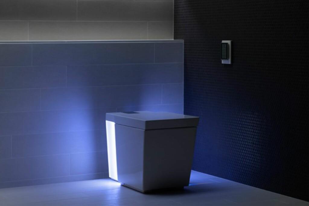 <B>GOD STEMNING:</B> Stemningslys i sju farger er strengt tatt den minst avanserte funksjonen med dette super-toalettet.