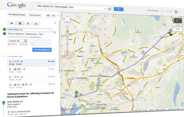 Kart Planlegg Ruter Reisen Med Google Maps Dinside