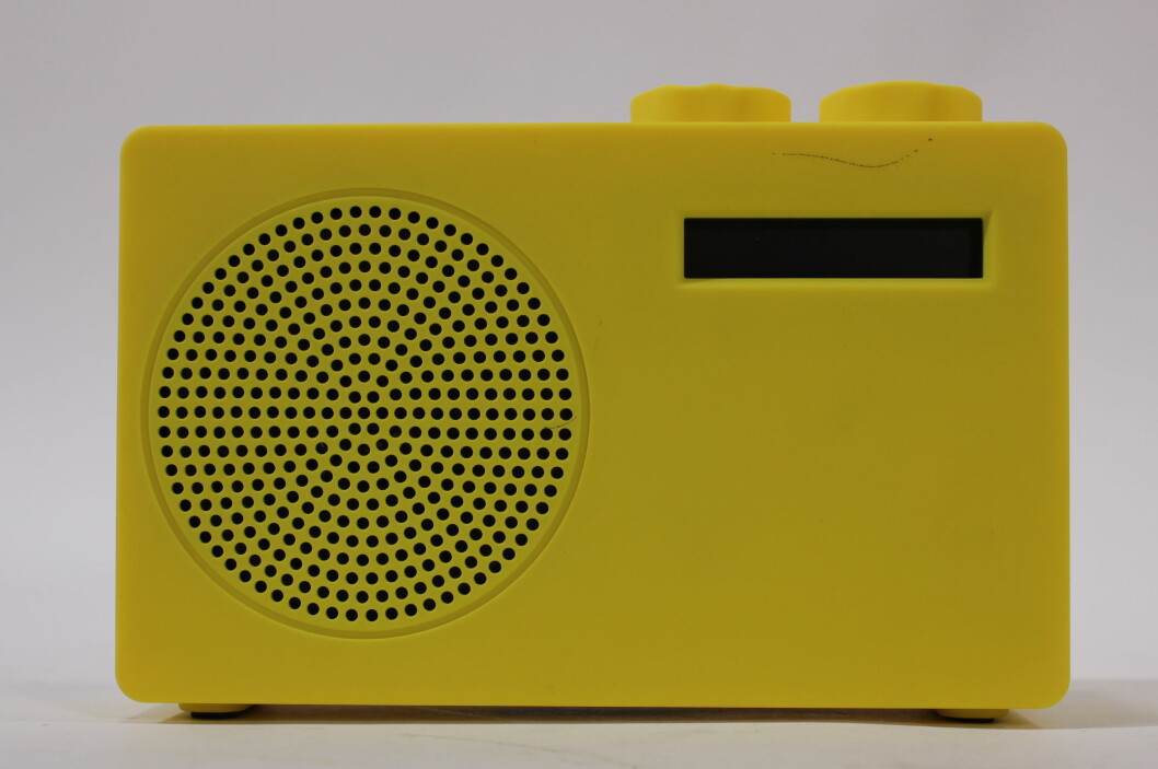 Pop er en liten, enkel og billig DAB+/FM-radio. Foto: Øyvind P
