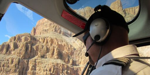 I helikopter til Grand Canyon