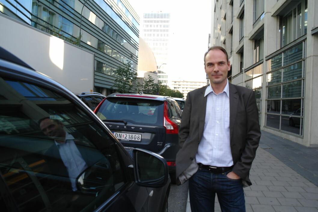 Stig Morten Nilsen, administrerende direktør i NBF, ønsker et nasjonalt kjøretøyregister, hvor forbrukere kan sjekke kilometerstand og verkstedshistorikk på bilen de skal kjøpe. Foto: Norges Bilbransjeforbund