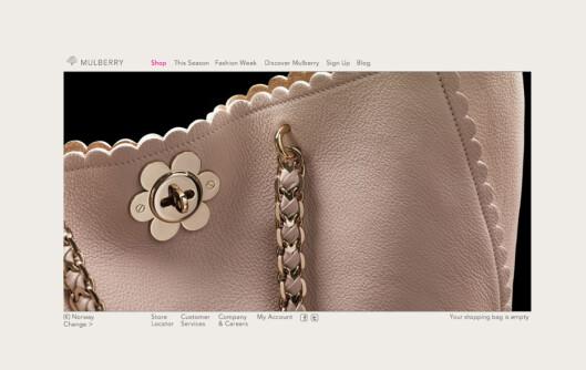 <strong><b>Originalen:</strong></b> Bruker du nettadressen www.mulberry.com kan du være sikker på at du har kommet til riktig sted.