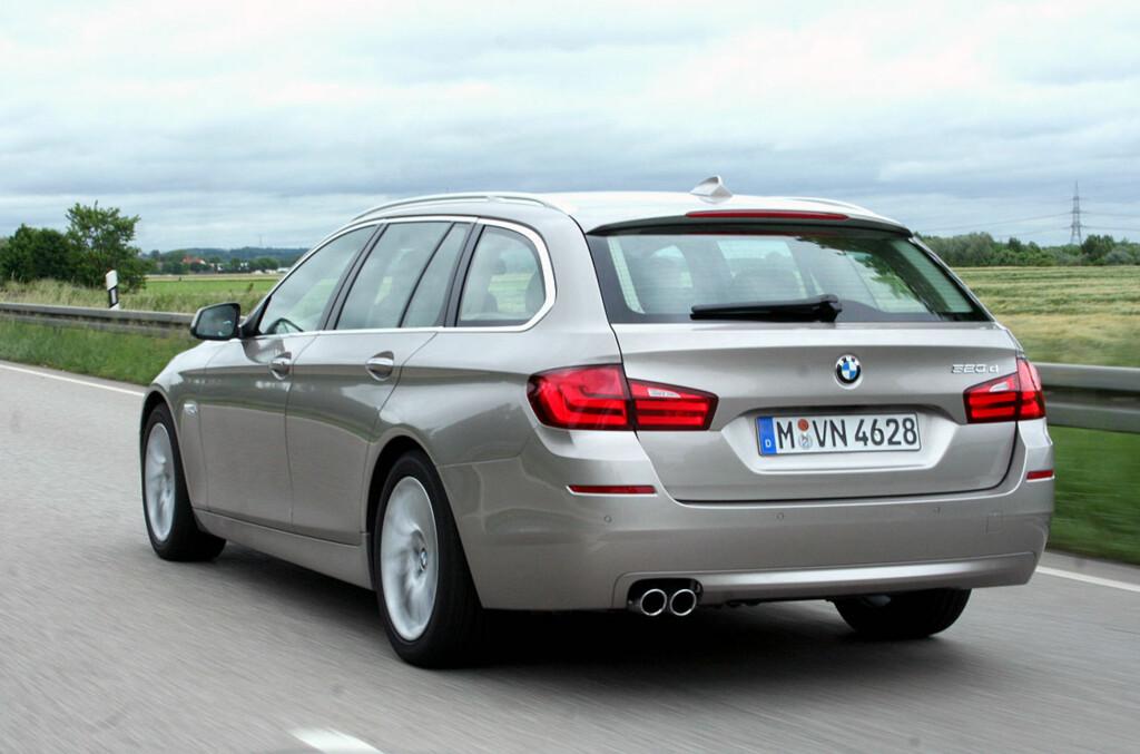 <B>KOSTBAR STORSELGER:</B> BMW 5-serie ble nummer 8. på statistikken over førstegangsregistrerte biler i fjor takket være massiv bruktimport i tillegg til godt salg her hjemme. Totalen ble 3.405 for 2012. Foto: Knut Moberg