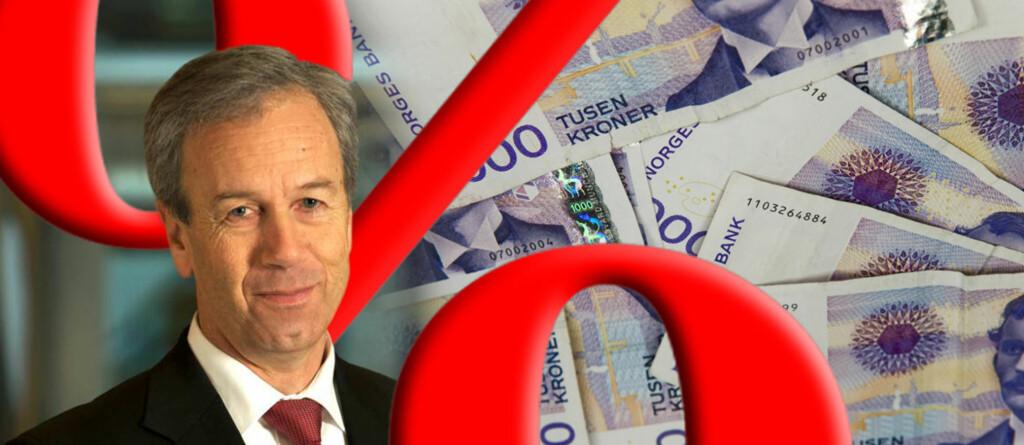 <b>GOD JUL:</b> Årets julegave er det sentralbanksjef Øystein Olsen og Norges Bank som står for. Trolig vil du ha glede av gaven gjennom hele 2013.  Foto: Nancy Bundt, Montasje: Per Ervland