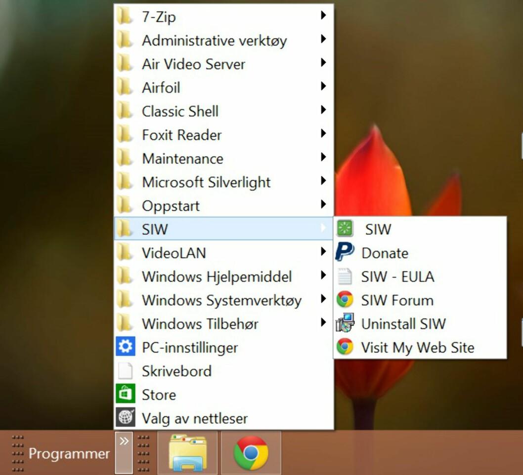 Se hva som ligger skjult i Windows 8