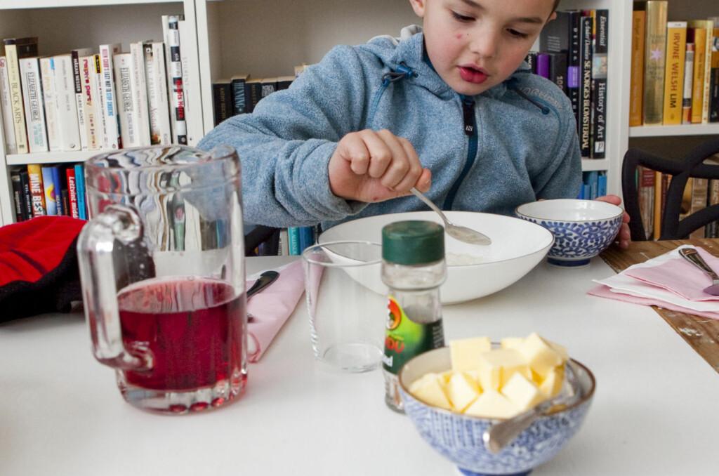 Smør må man ha, til julegrøten.  Foto: Per Ervland