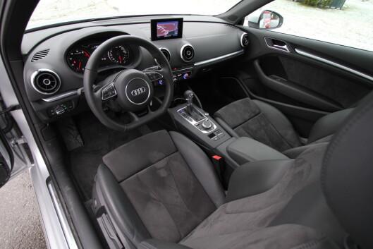 Nøkternt og ryddig: Audi A3 Foto: Fred Magne Skillebæk