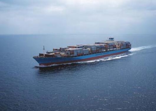 Et av havets giganter: Laura Maersk Foto: Maersk Line