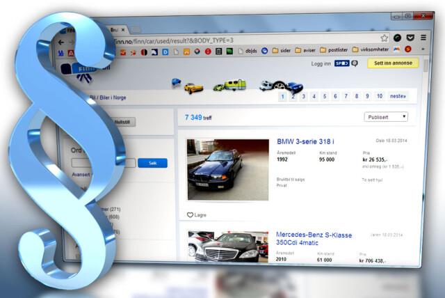 d3d8c194 LOV OG RETT: Når du selger eller kjøper biler på for eksempel Finn.no