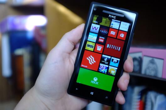 <strong>STANDARD:</strong> HTC Windows Phone 8X har ikke mye nytt å by på i forhold til hva Windows Phone 8 i seg selv har å by på.  Foto: Ole Petter Baugerød Stokke