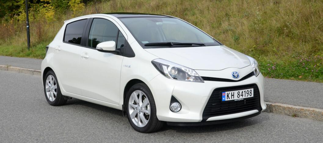 Toyota Yaris er blant bilene som drar hybridandelen opp Foto: DINSIDE