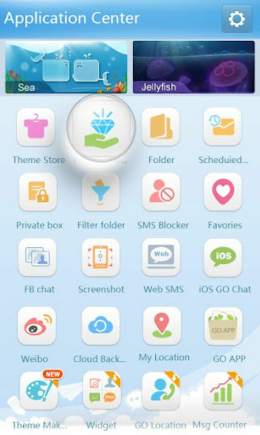 Mange muligheter i Go SMS Pro