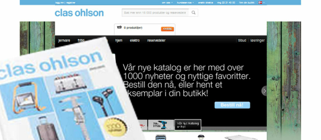 Clas Ohlson har Norges beste nettbutikk, ifølge fersk kåring gjennomført av Posten og Bring. Foto: Clas Ohlson