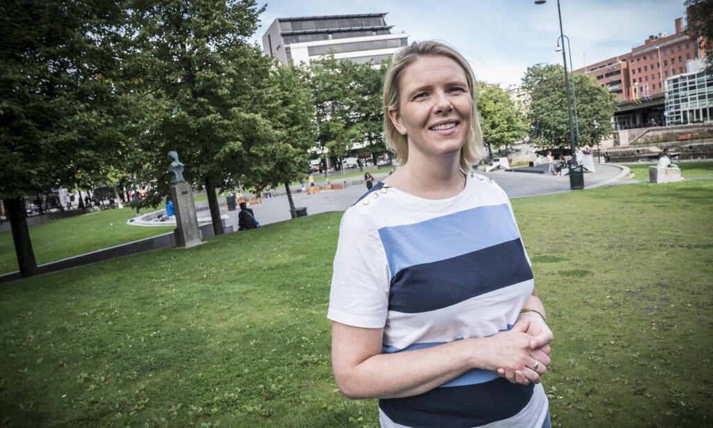 PÅ GRØNLAND: : Sylvi Listhaug besøkte Grønland i Oslo for å snakke om kriminalitet knyttet opp til innvandrergjenger. Foto: Øistein Norum Monsen / Dagbladet