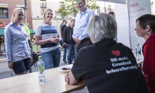BESØK: Sylvi Listhaug oppsøkte Grønland i Oslo for å komme nærmere på problemene i omårdet. Foto: Øistein Norum Monsen / Dagbladet