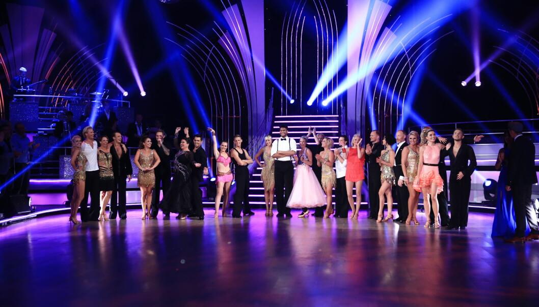 <strong>«SKAL VI DANSE»:</strong> TV 2s «Skal vi danse» hadde 406 000 seere lørdag kveld. Foto: TV 2