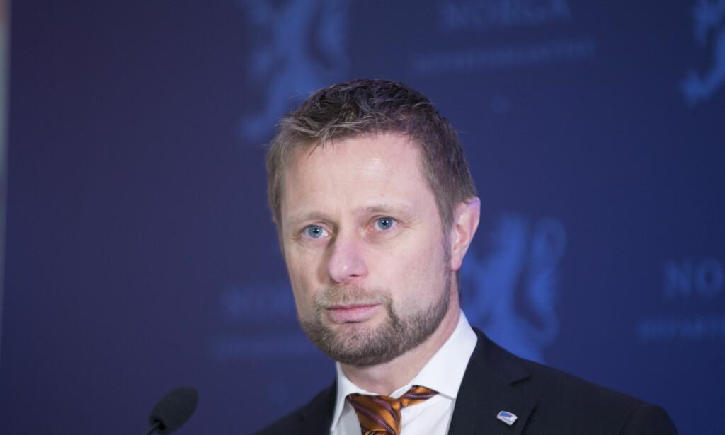 FLERE PÅ GANGEN: Helse- og omsorgsminister Bent Høie (H) hadde et mål om null korridorpasienter i 2016. Slik gikk det ikke. Foto: Terje Bendiksby / NTB scanpix