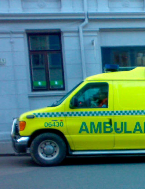 FLAKS: Sykebilen var bare to minutter unna. Illustrasjonsfoto: Wikipedia
