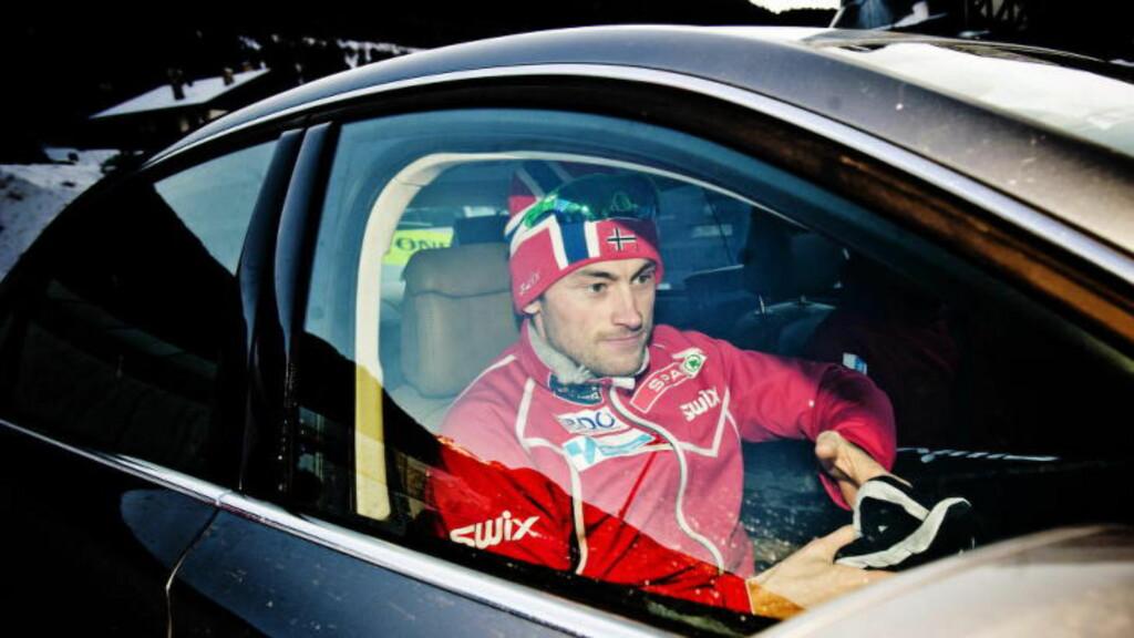 SPONSET: Petter Northug disponerer en Audi A7 fra sponsoren Audi Norge. Foto: Thomas Rasmus Skaug / Dagbladet