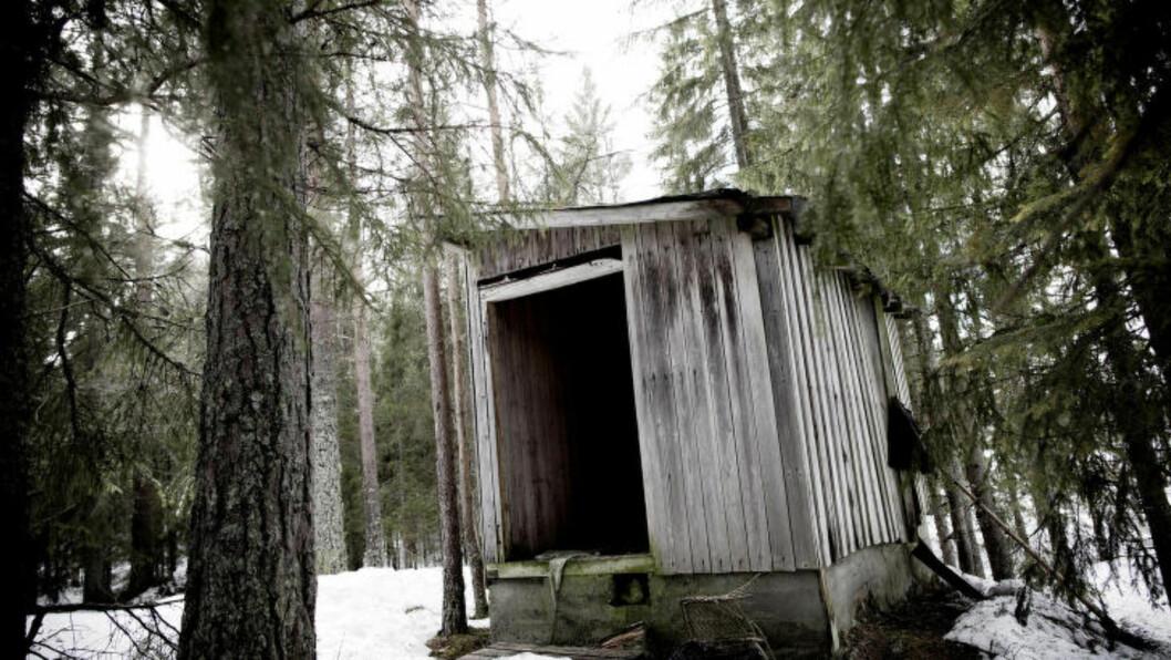 <strong>HER BLE ANNA DREPT:</strong> I dette skjulet ved Grønskjær skisenter i Telemark ble den 26 år gamle russiske kvinnen funnet drept. Foto: Tomm W. Christiansen