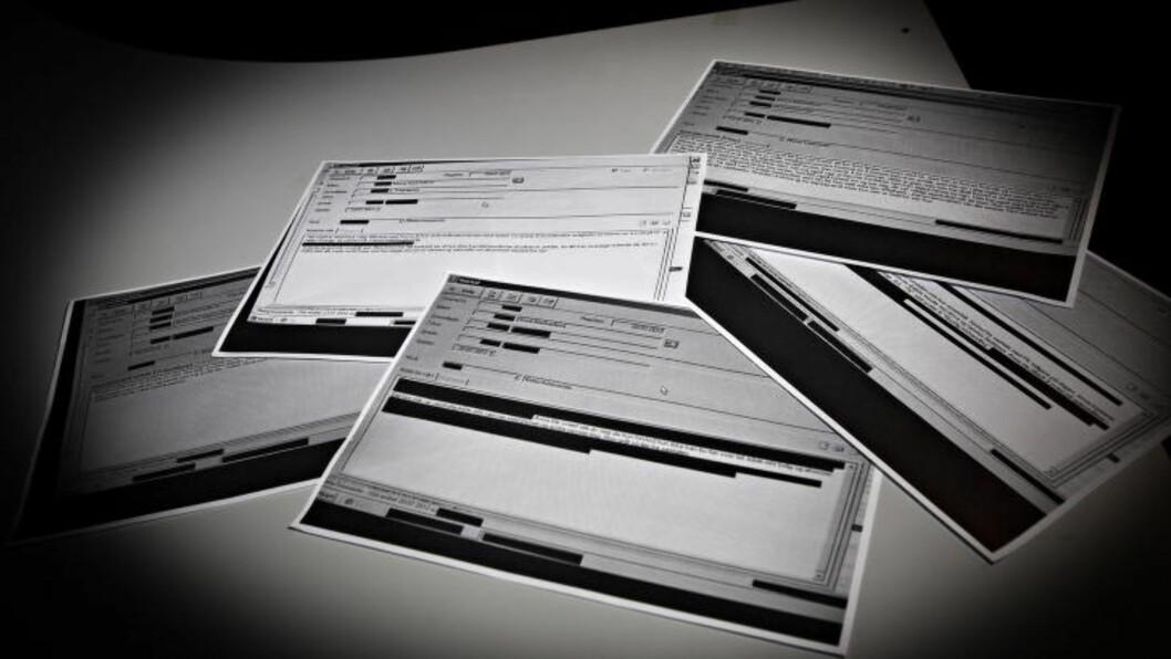 JOURNALENE: Anna Medvedevas journal fra krisesenter Foto: Torbjørn Berg