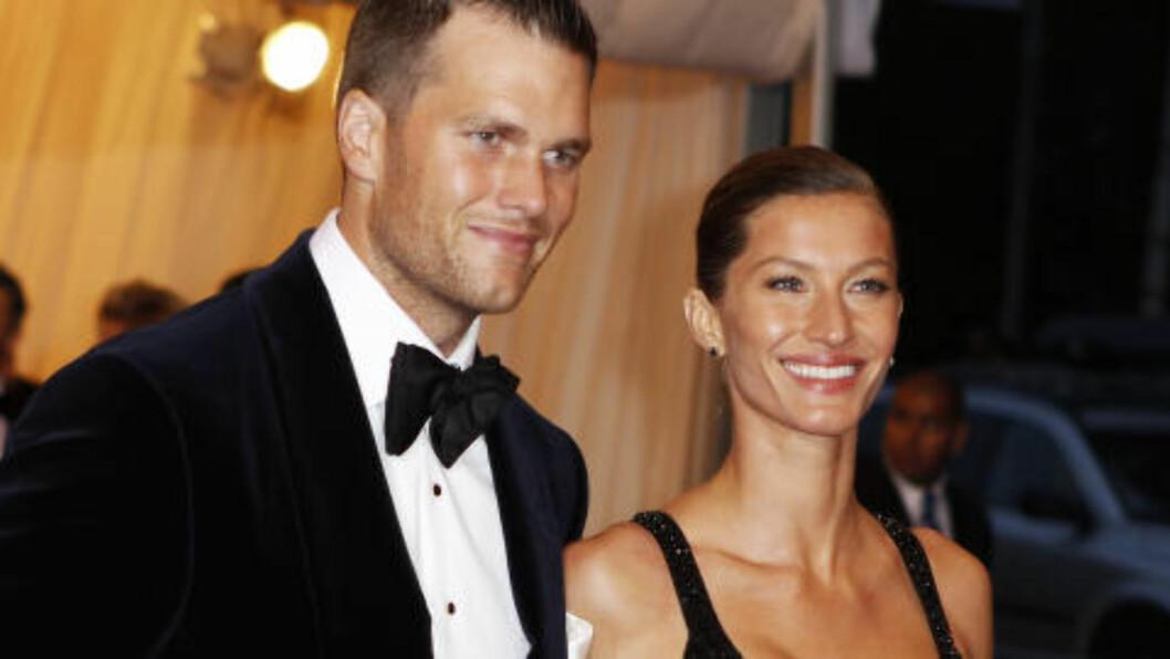 <strong>FANT TONEN:</strong> Gisele Bundchen ogTom Brady fra New England Patriots. Foto: REUTERS/Lucas Jackson