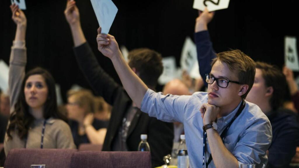 ØKONOMI: Fredrik Punsvik, nestleder i Unge Høyre vil selge unna statens eierandeler i en rekke selskaper - gjerne alt. Foto: Erlend Aas / NTB scanpix