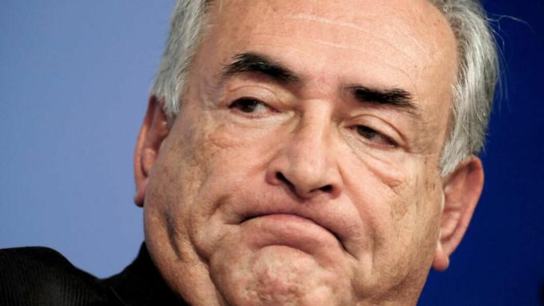 <strong>FALLET:</strong> Sjefen for IMF var en av verdens mektigste mann og hadde høye politiske ambisjoner. Da han ble saksøkt av stuepiken på New York-hotellet, gikk han til motsøksmål mot hotellpiken som anklaget han for seksuelt overgrep.  AFP PHOTO/Karen BLEIER/FILES
