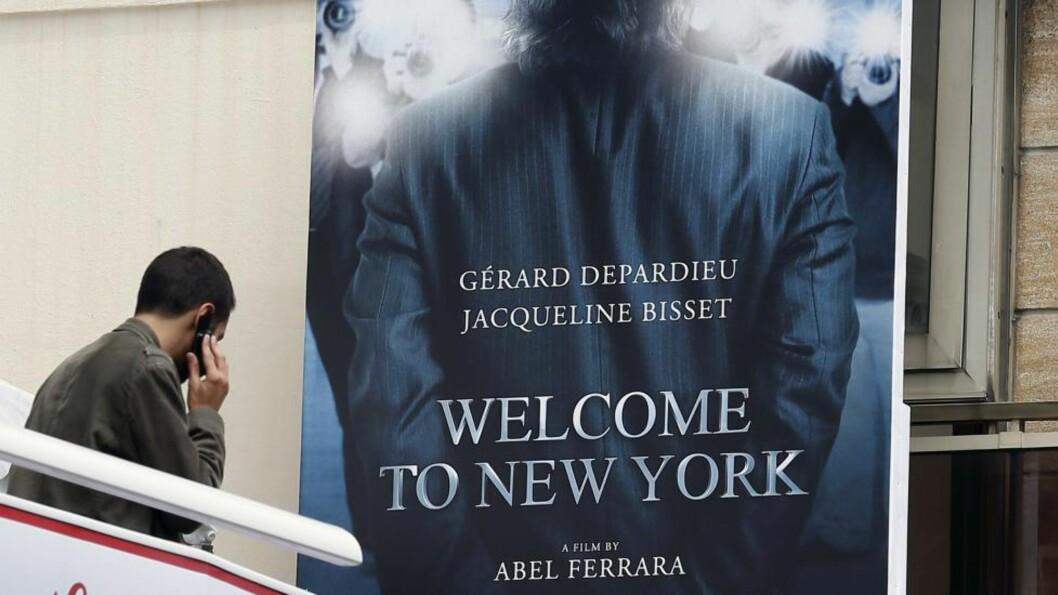 <strong>SEX-SKANDALEFILMEN:</strong> Under den 66 filmfestivalen i Cannes er denne filmen et samtaleemne. Den amerikansk produserte filmen er basert på skandalen med, og fallet til, den tidligere IMF-sjefen Dominique Strauss-Kahn. Filmen er regissert av Abel Ferrara og den mannlige hovedrollen spilles av ingen ringere enn Gerard Depardieu mens Jacqueline Bisset spiller hans kone. AFP PHOTO / VALERY HACHE
